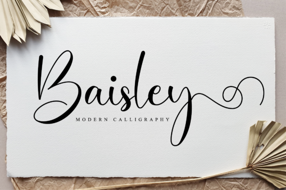 Print on Demand: Baisley Script & Handwritten Font By NissaStudio