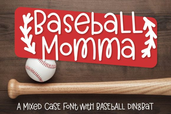 Print on Demand: Baseball Momma Duo Display Font By Justina Tracy - Image 1