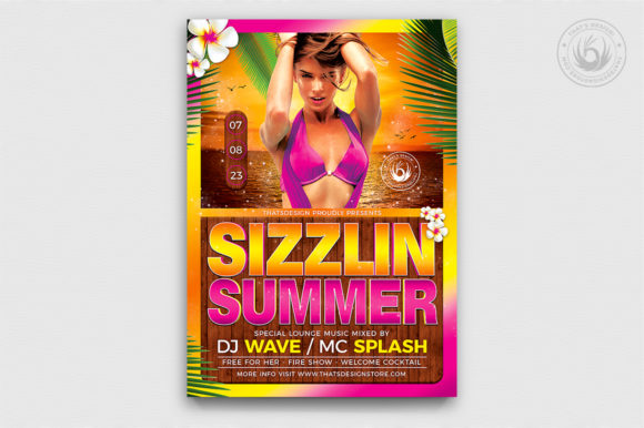 Beach Party Flyer Template V7 Graphic Print Templates By ThatsDesignStore