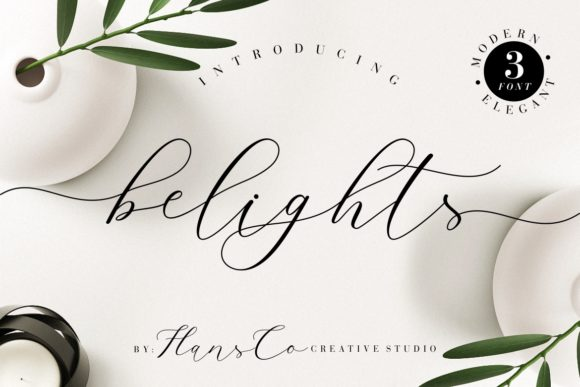 Print on Demand: Belights Script & Handwritten Font By HansCo