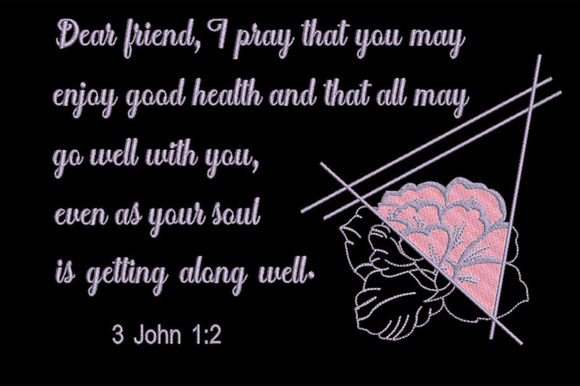Print on Demand: Bible Quote About Health Religion & Faith Embroidery Design By Embroidery Shelter