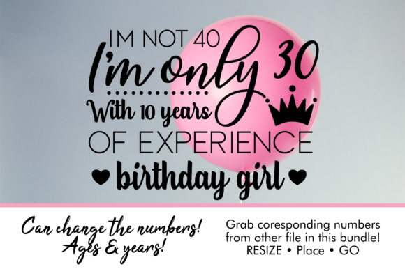 Download Free Birthday Girl I M Only Graphic By Oh K Productions Creative for Cricut Explore, Silhouette and other cutting machines.