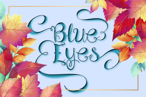 Print on Demand: Blue Eyes Script & Handwritten Font By Rusd studio