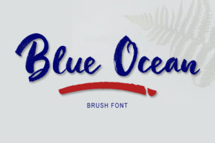 Print on Demand: Blue Ocean Manuscrita Fuente Por bandithandmade17