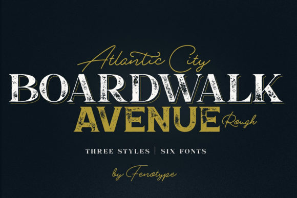 Print on Demand: Boardwal Avenue Script & Handwritten Font By fenotypefonts
