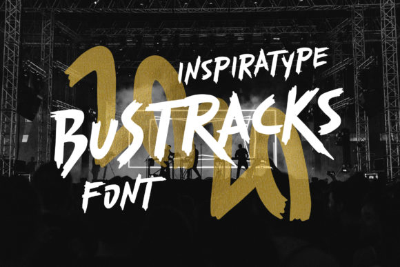 Print on Demand: Bustracks Display Font By InspiraType