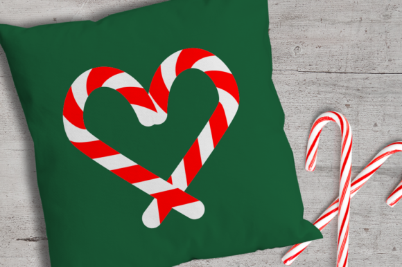 Candy Cane Heart Graphic Crafts By DesignedByGeeks