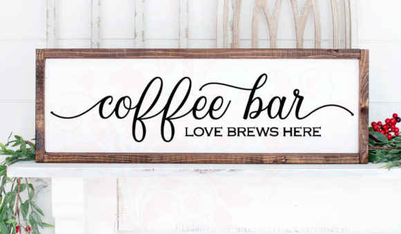 Download Free Coffee Bar Love Brews Here Graphic By Farmstone Studio Designs for Cricut Explore, Silhouette and other cutting machines.