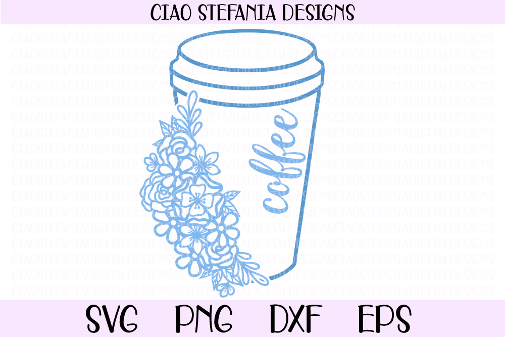Coffee Cup With Flowers Graphic By Ciaostefaniadigital