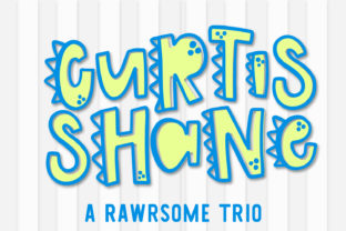 Print on Demand: Curtis Shane Trio Display Font By Justina Tracy