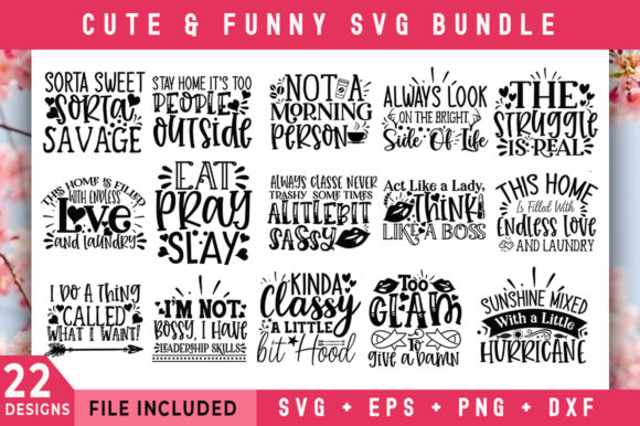 Print on Demand: Cute & Funny Design Bundle Graphic Crafts By SubornaStudio