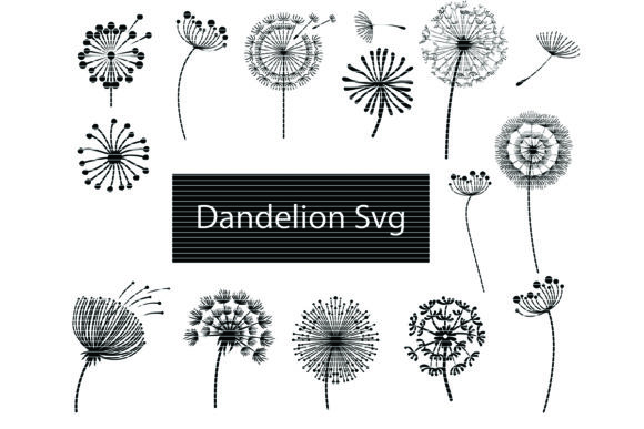 Download Free Dandelion Clip Art Bundle Graphic By Meshaarts Creative Fabrica for Cricut Explore, Silhouette and other cutting machines.
