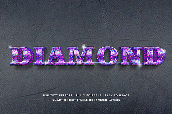 Download Free Diamond 3d Text Effect Mockup Grafico Por Syifa5610 Creative for Cricut Explore, Silhouette and other cutting machines.