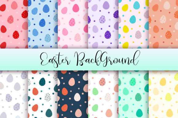 Easter Background Digital Papers Graphic Backgrounds By PinkPearly