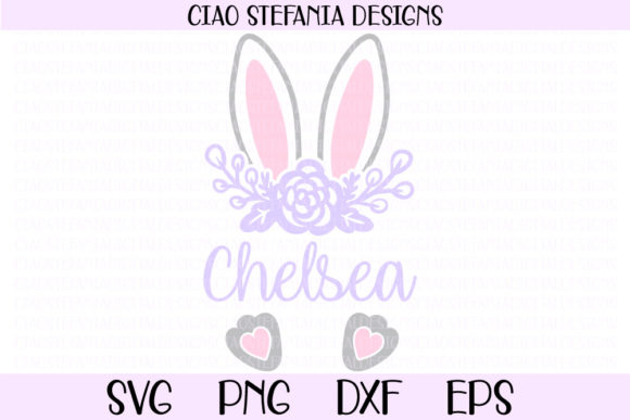 Download Free Easter Bunny Ears Monogram Graphic By Ciaostefaniadigital Creative Fabrica for Cricut Explore, Silhouette and other cutting machines.