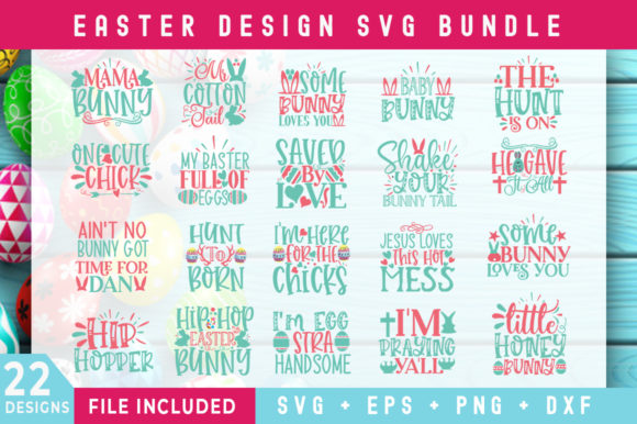Print on Demand: Easter Day Bundle Graphic Crafts By SubornaStudio