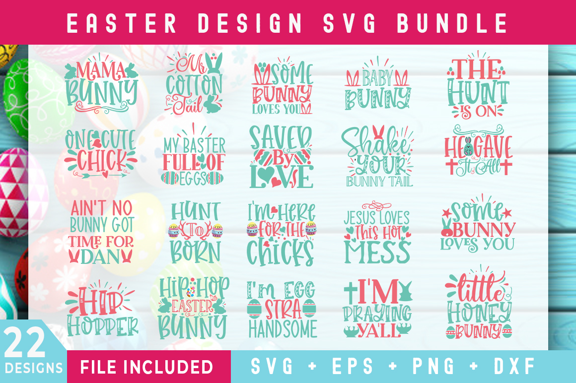 Download Free Easter Day Bundle Graphic By Subornastudio Creative Fabrica for Cricut Explore, Silhouette and other cutting machines.