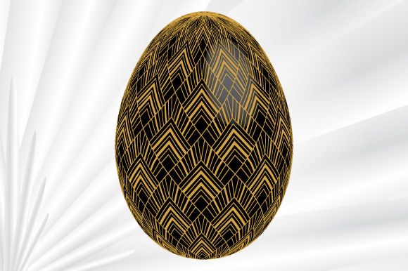 Download Free Easter Egg Art Deco Black Vector Graphic By Graphicsfarm for Cricut Explore, Silhouette and other cutting machines.