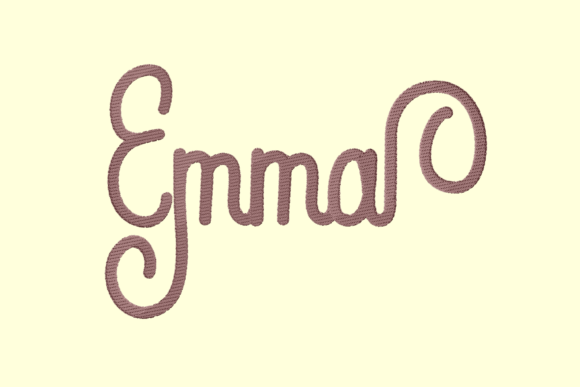 Emma Lettering Clothing Embroidery Design By setiyadissi