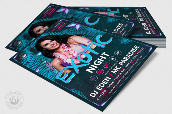 Exotic Night Flyer Template Graphic Print Templates By ThatsDesignStore - Image 4