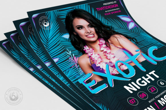 Exotic Night Flyer Template Graphic Print Templates By ThatsDesignStore - Image 5