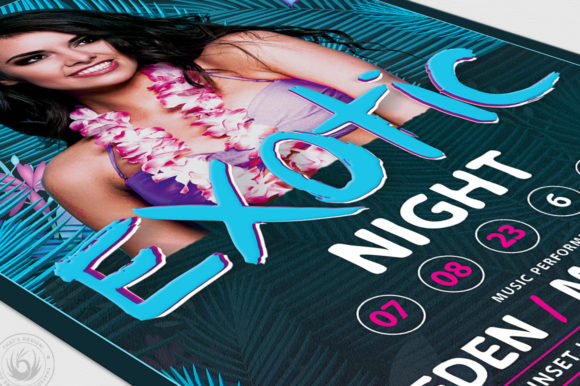Exotic Night Flyer Template Graphic Print Templates By ThatsDesignStore - Image 6