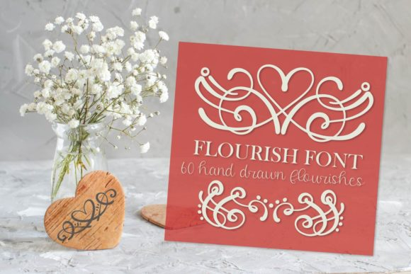 Print on Demand: Flourish Pack Dingbats Font By Justina Tracy