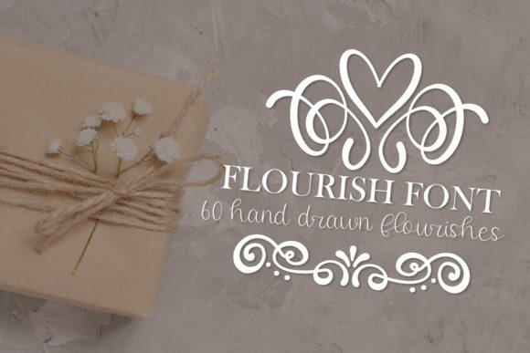 Print on Demand: Flourish Pack Dingbats Font By Justina Tracy - Image 2