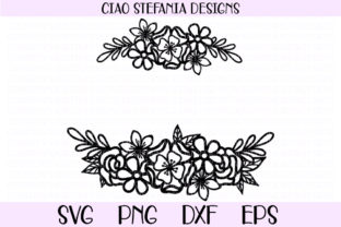 Download Free Flower Bouquet Monogram Wreath Graphic By Ciaostefaniadigital for Cricut Explore, Silhouette and other cutting machines.