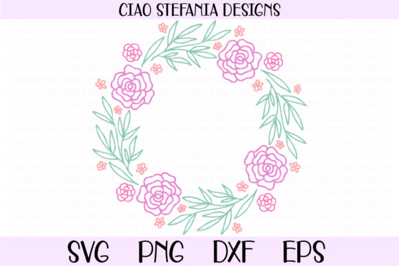 Flower Geometric Wedding Frames Bundle Graphic By