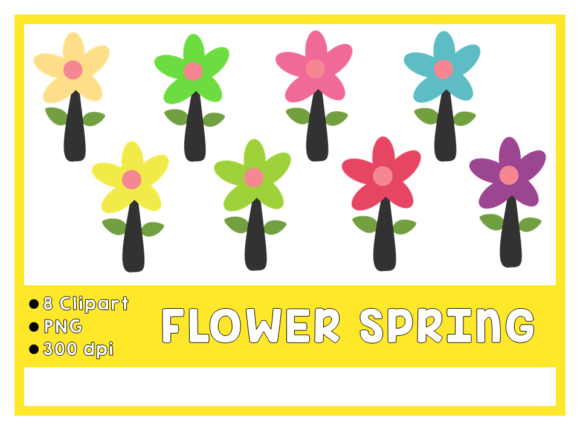 Flower Spring Clipart Graphic Icons By Happy Kiddos