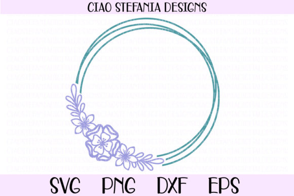 Download Free Flowers Geometric Circle Frame Graphic By Ciaostefaniadigital for Cricut Explore, Silhouette and other cutting machines.