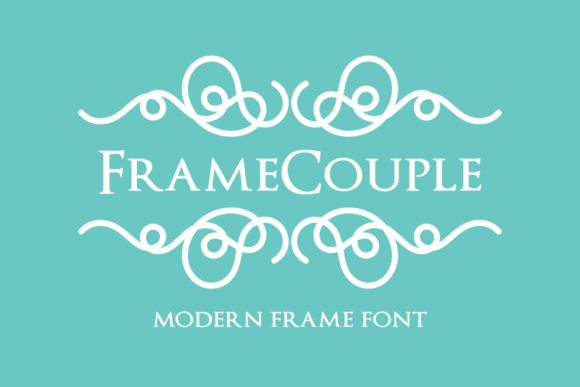 Print on Demand: Framecouple Dingbats Font By pustudio