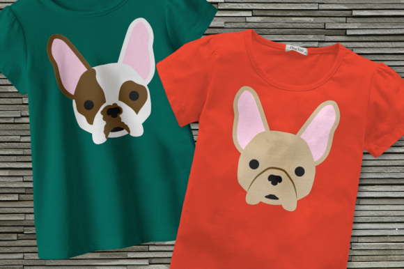 French Bulldog Face Graphic Crafts By DesignedByGeeks