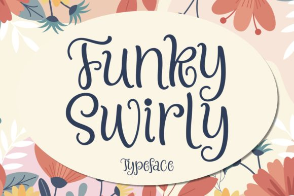 Print on Demand: Funky Swirly Script & Handwritten Font By Keithzo (7NTypes) - Image 1