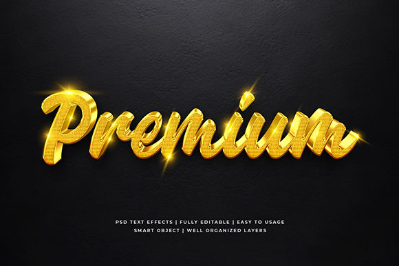 Gold Luxury  3d Text Effect Mockup Graphic Brushes By Syifa5610