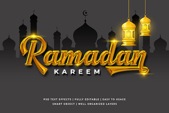 Download Free Golden Ramadan 3d Text Effect Mockup Graphic By Syifa5610 for Cricut Explore, Silhouette and other cutting machines.