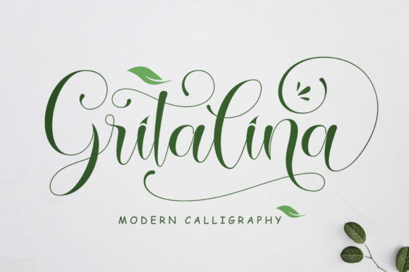 Print on Demand: Gritalina Script & Handwritten Font By softcreative50