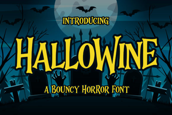 Print on Demand: Hallowine Display Font By Blankids Studio