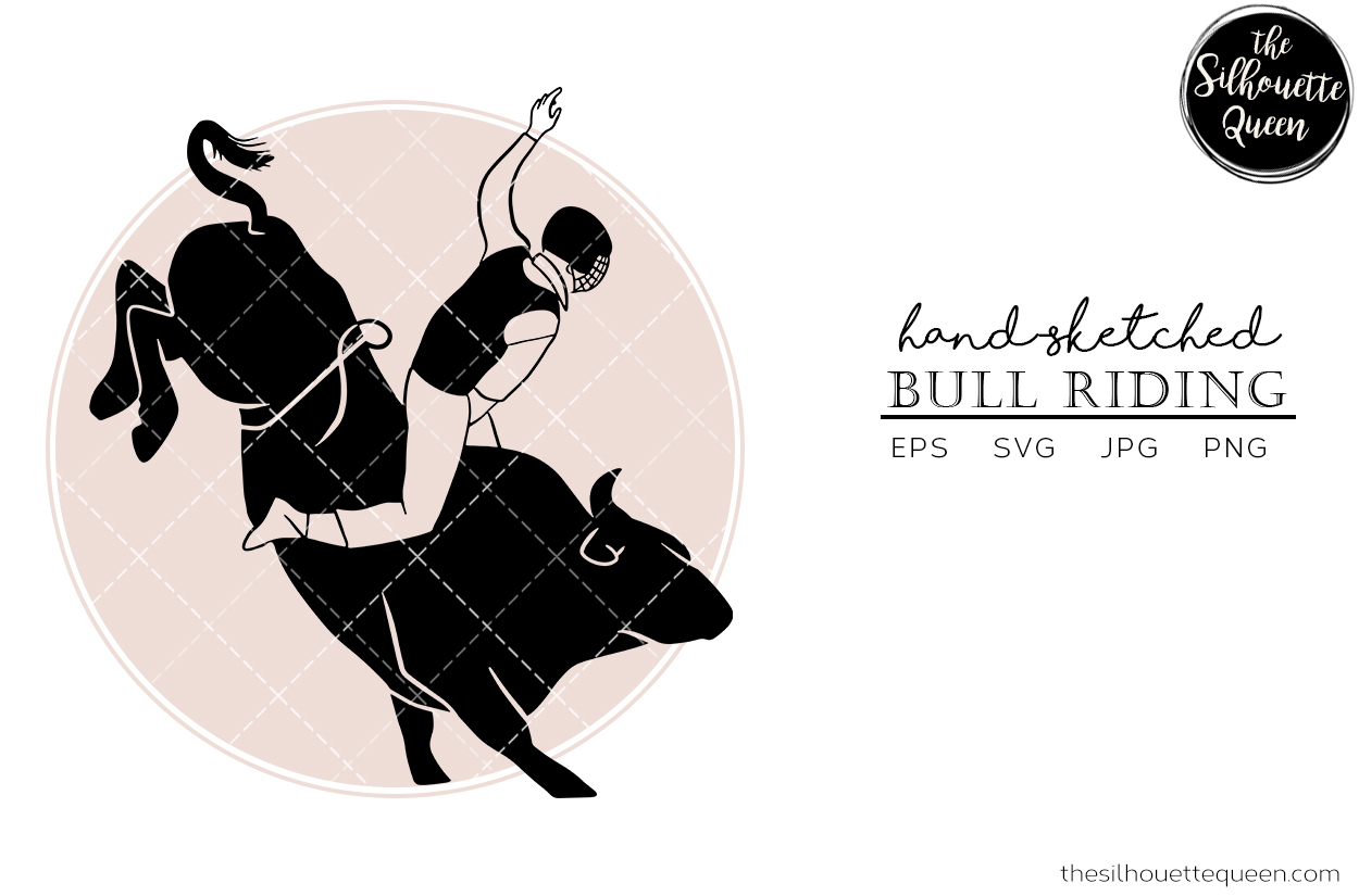 Download Free Hand Drawn Bull Riding Vector Sketch Graphic By for Cricut Explore, Silhouette and other cutting machines.