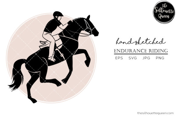 Hand Drawn Horse Sports Endurance Riding Graphic Crafts By thesilhouettequeenshop