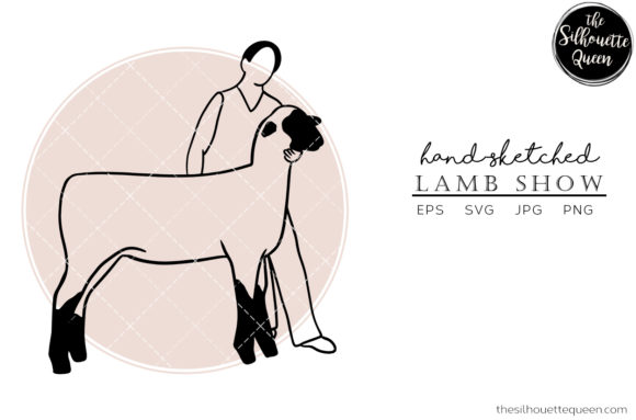 Download Free Hand Drawn Lamb Show Vector Sketch Graphic By for Cricut Explore, Silhouette and other cutting machines.
