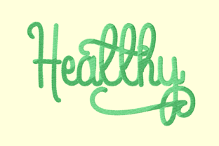 Print on Demand: Healthy Lettering House & Home Quotes Embroidery Design By setiyadissi