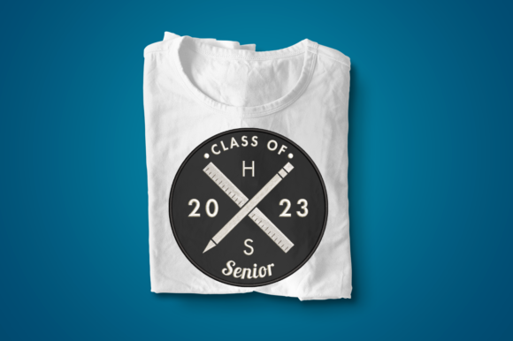 Hipster Logo Grad Class of 2023 Applique Abschluss Stickdesign von DesignedByGeeks