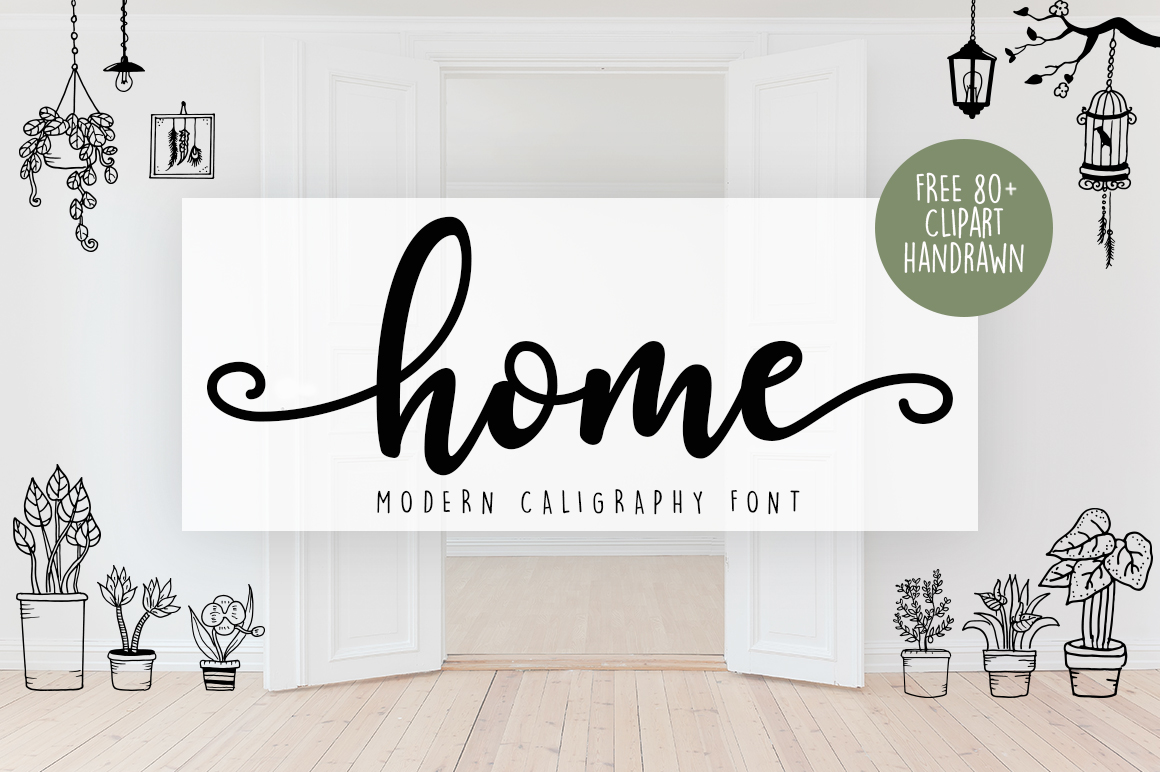 Download Free Home Font By Graphix Line Studio Creative Fabrica for Cricut Explore, Silhouette and other cutting machines.