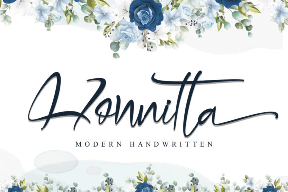 Print on Demand: Honnitta Script & Handwritten Font By thomasaradea