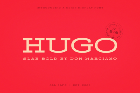 Print on Demand: Hugo Serif Font By DonMarciano