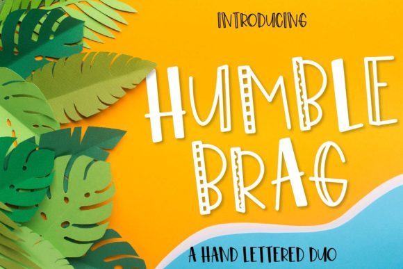 Print on Demand: Humble Brag Duo Display Font By Justina Tracy