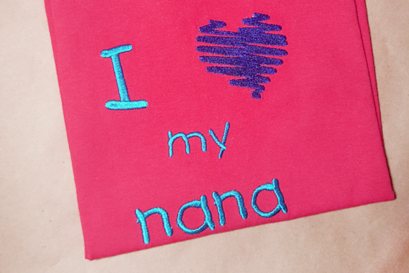 I Heart My Nana Grandparents Embroidery Design By DesignedByGeeks