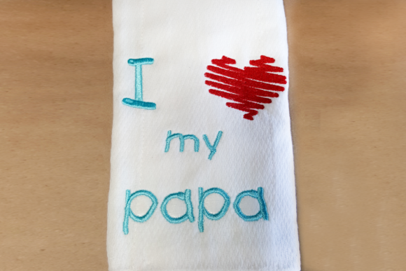 I Heart My Papa Grandparents Embroidery Design By DesignedByGeeks